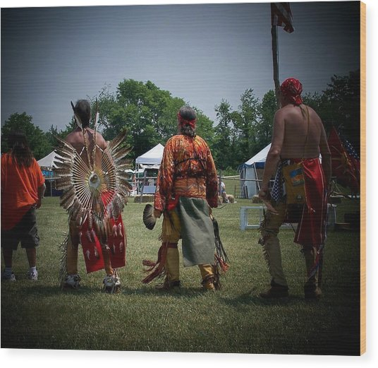 Pow Wow Wood Print by Vijay Sharon Govender