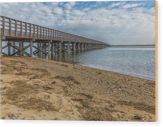 Powder Point Bridge Wood Print