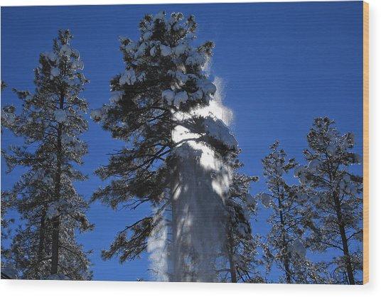 Powderfall Wood Print