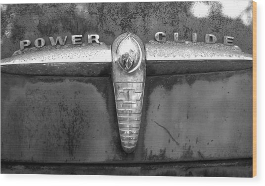 Power Glide Wood Print by Audrey Venute