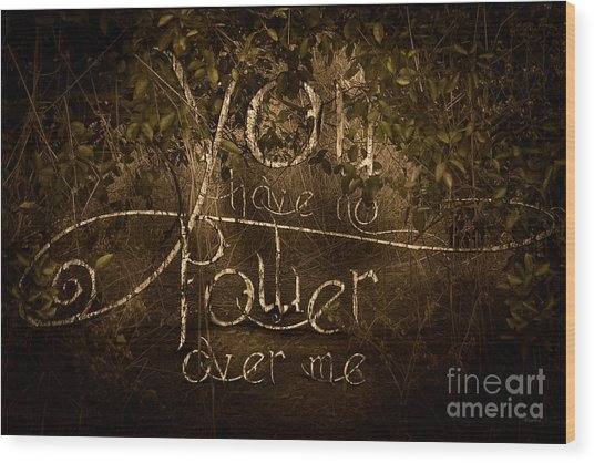 Power Struggle Wood Print