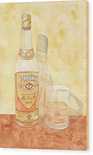 Powers Irish Whiskey Wood Print