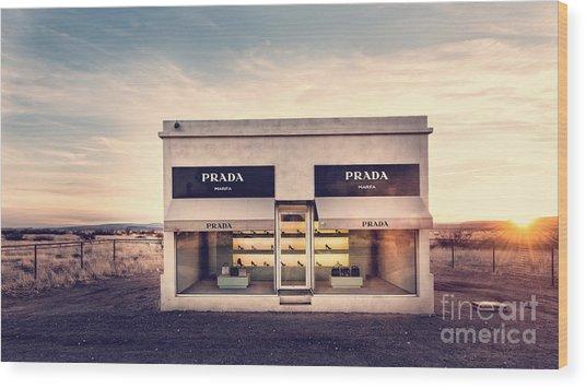 Prada Store Wood Print