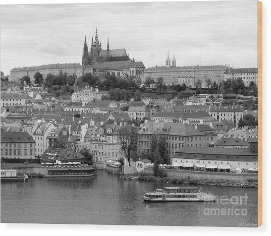 Prague Castle Wood Print by Keiko Richter