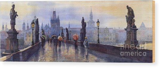 Prague Charles Bridge Wood Print