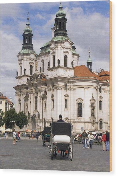 Prague Wood Print by Charles  Ridgway