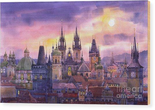 Prague City Of Hundres Spiers Variant Wood Print