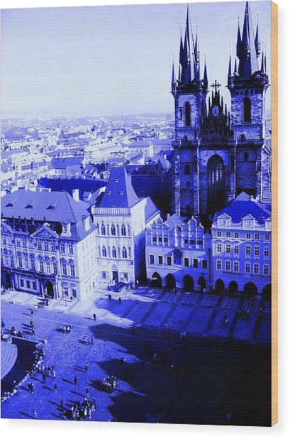 Wood Print featuring the photograph Prague Cz by Michelle Dallocchio