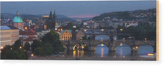 Prague - Most Beautiful City In The World Wood Print