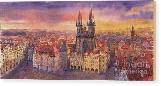 Prague Old Town Square 02 Wood Print