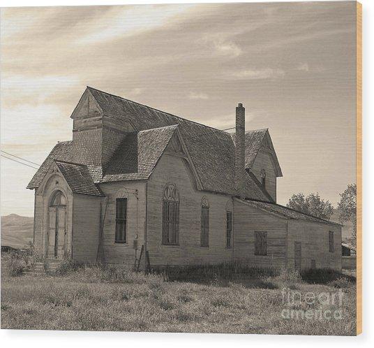 Prairie House Wood Print