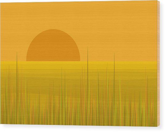 Prairie  Sundown Wood Print