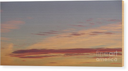 Prairie Sunset 2 Wood Print
