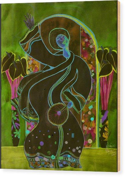 Praise Wood Print by Joyce Miles
