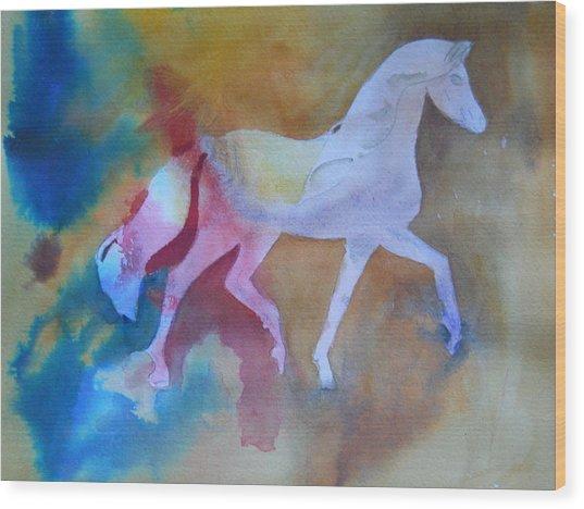 Prancing Pony Wood Print