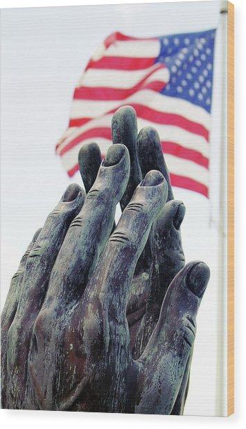 Pray For The Usa Wood Print