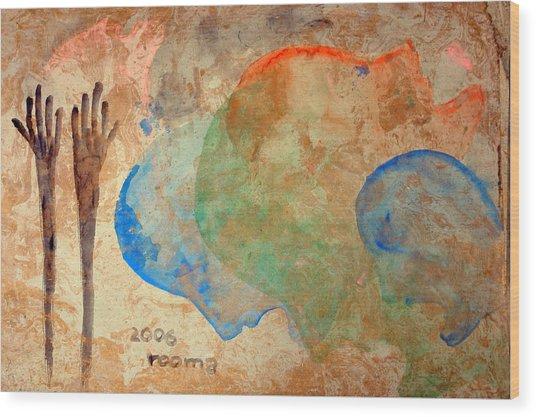 Prayer Wood Print by Rooma Mehra