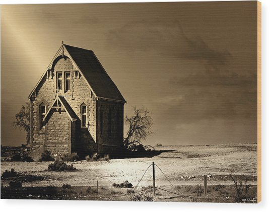 Praying For Rain 2 Wood Print by Holly Kempe