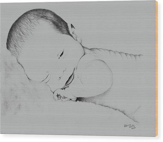 Precious Baby Wood Print