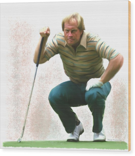 Precision Jack Nicklaus  Wood Print