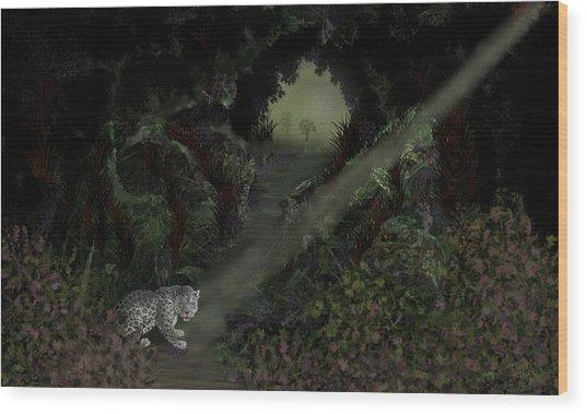 Predator Wood Print by Tony Rodriguez