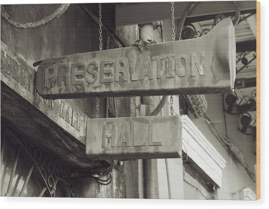 Preservation Hall, French Quarter, New Orleans, Louisiana Wood Print