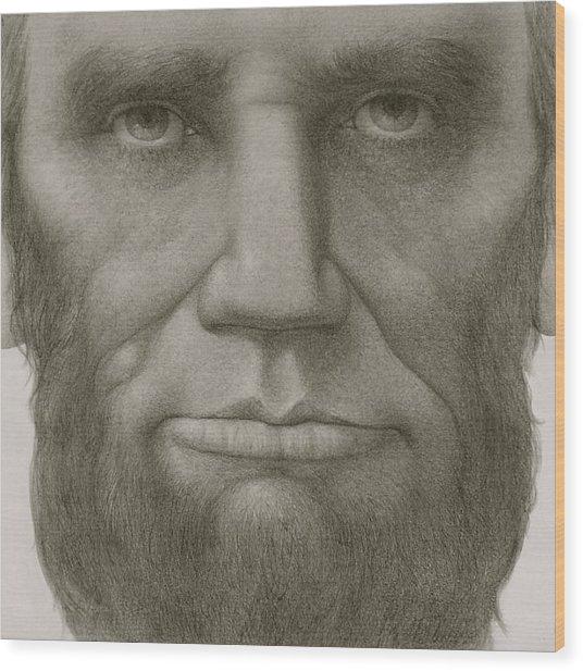 President Abraham Lincoln Wood Print by Gary Kaemmer