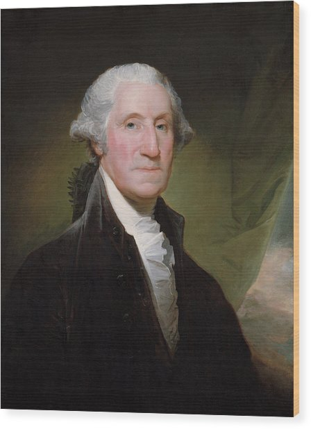 President George Washington Wood Print