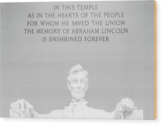 President Lincoln Wood Print