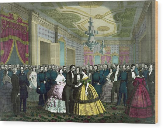 President Lincoln's Last Reception Wood Print
