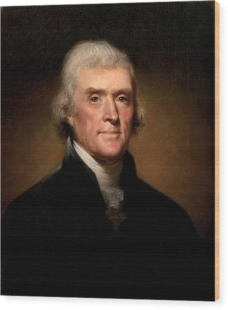 President Thomas Jefferson  Wood Print
