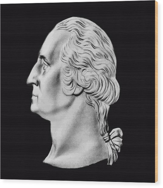 President Washington Bust  Wood Print