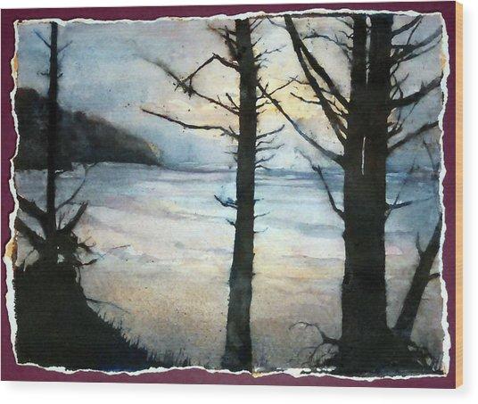 Presque Isle Dawn Wood Print