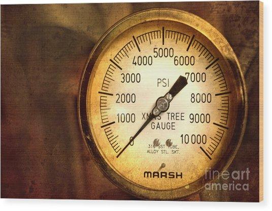 Pressure Gauge Wood Print