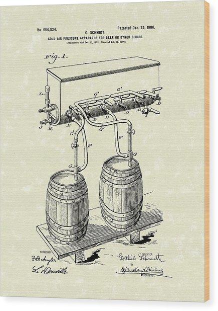 Pressure System 1900 Patent Art  Wood Print
