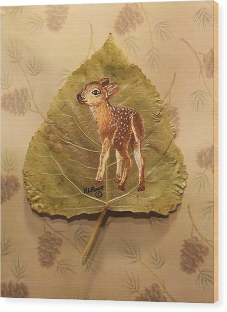 Pretty Baby Deer Wood Print