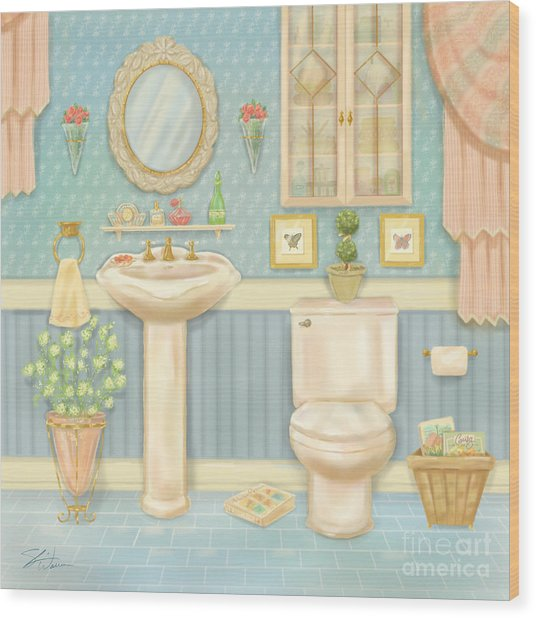 Pretty Bathrooms Iv Wood Print