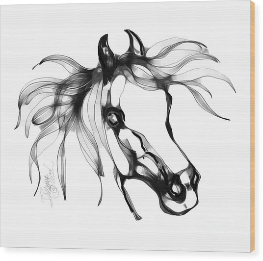 Pretty Filly's Ears Wood Print