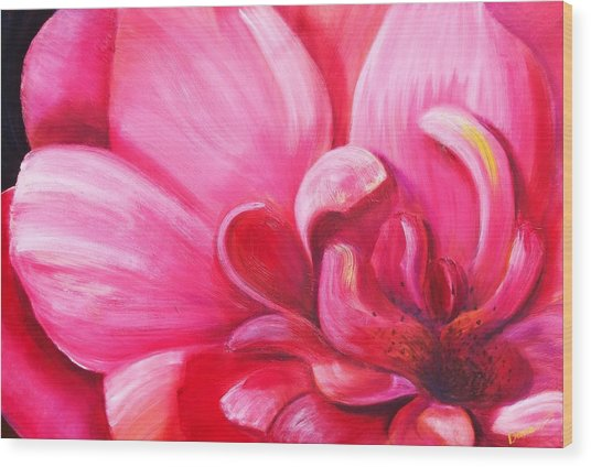 Pretty In Pink Wood Print by Dana Redfern