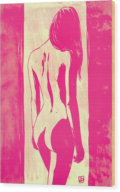 Pretty In Pink Wood Print by Giuseppe Cristiano