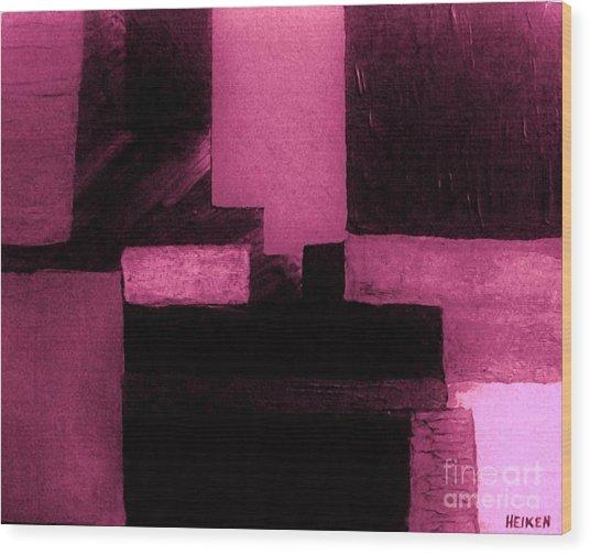 Pretty Pink Abstract Wood Print by Marsha Heiken