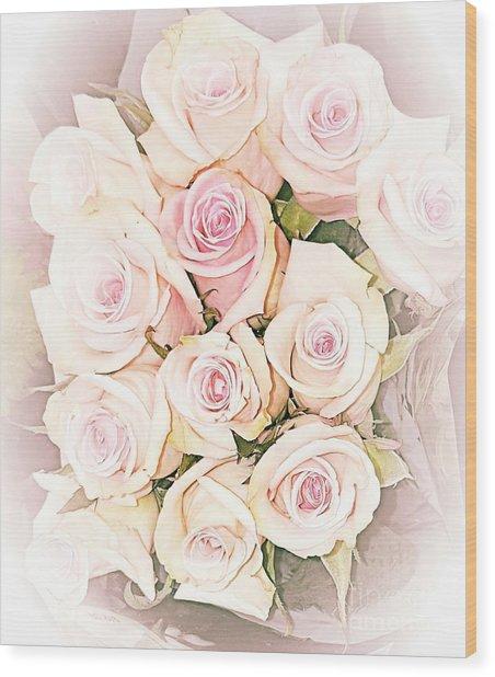 Pretty Roses Wood Print