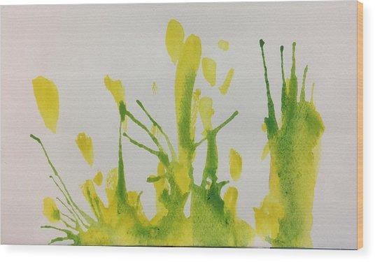 Pretty Weeds Wood Print
