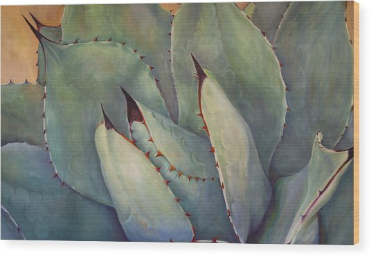 Prickly 2 Wood Print by Athena Mantle