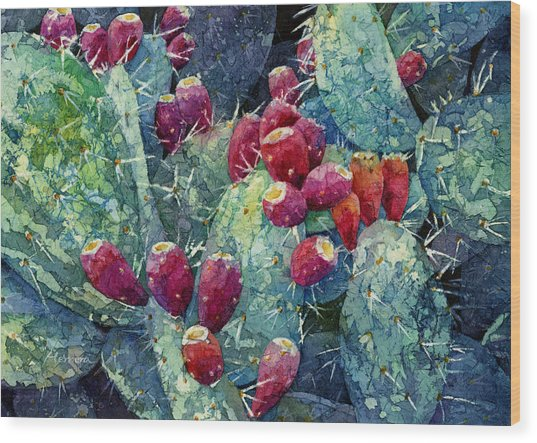 Prickly Pear 2 Wood Print