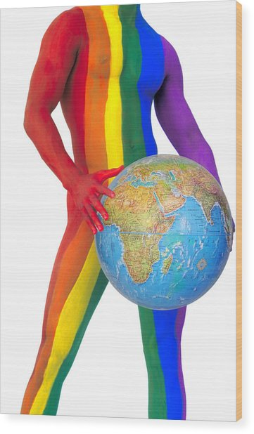 Pride Around The World Wood Print by Filippo Ioco
