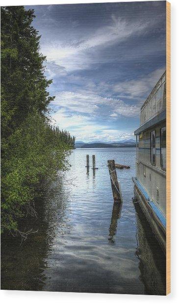 Priest Lake Houseboat 7001 Wood Print