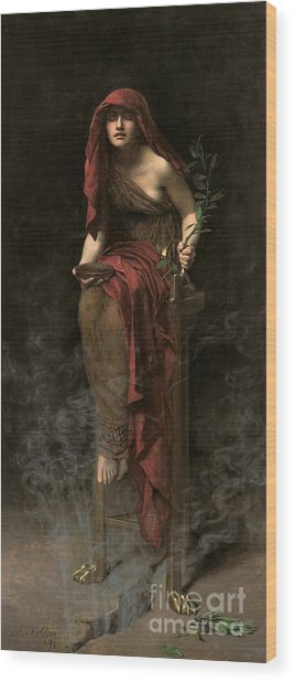 Priestess Of Delphi Wood Print