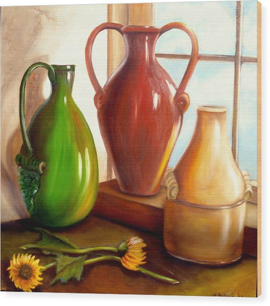 Primarily Jugs. Sold Wood Print