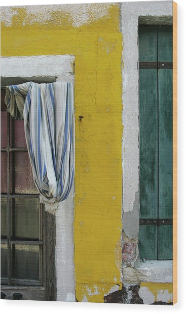 Primary Colours Of Burano Wood Print